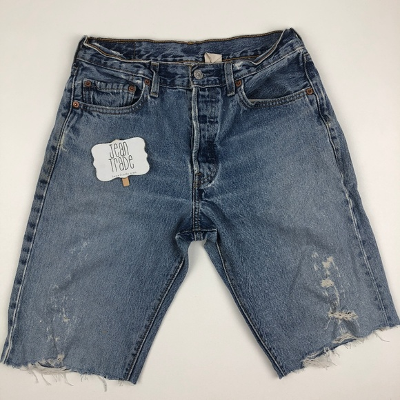 Levi's Pants - Levi's 501 Button Fly Distressed Jean Shorts